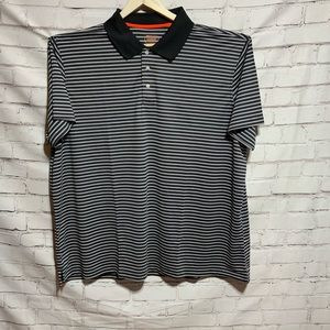 Foundry Men's Black Stripe 4XL Short Sleeve Polo New with Tags